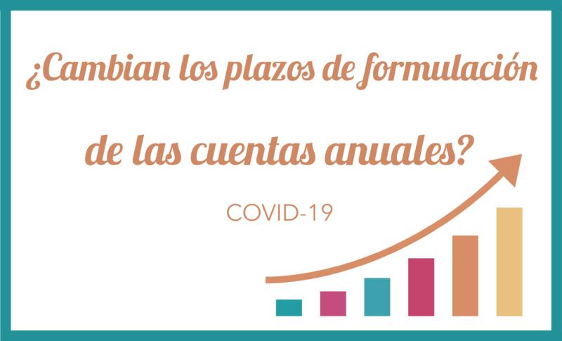 ¿Cambian los plazos de formulación de las cuentas anuales por el COVID-19?